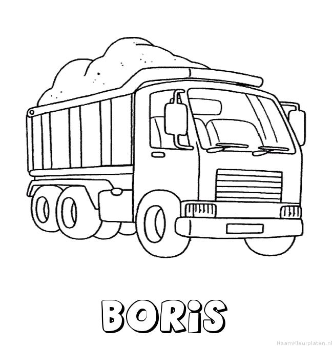 Boris vrachtwagen kleurplaat