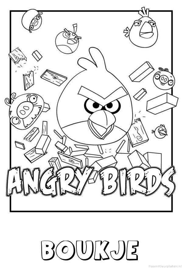 Boukje angry birds kleurplaat