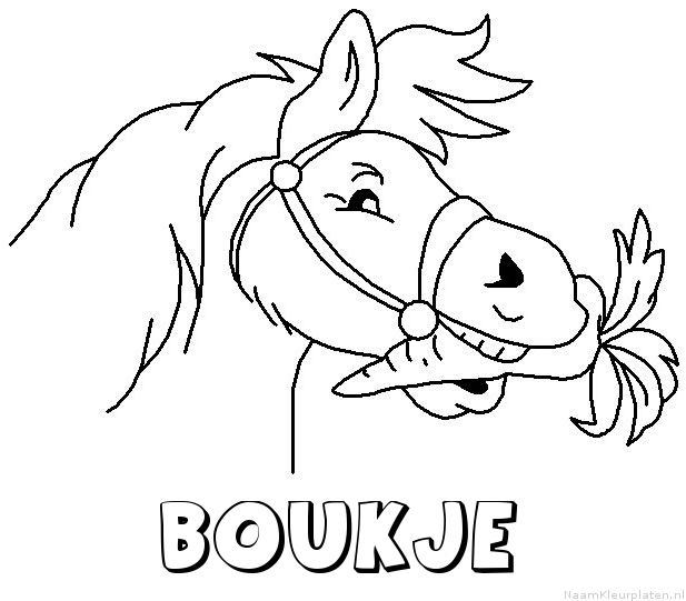 Boukje paard van sinterklaas kleurplaat