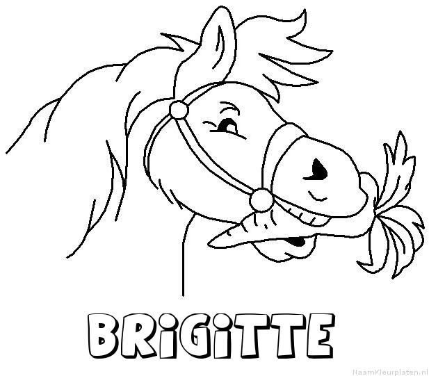 Brigitte paard van sinterklaas kleurplaat