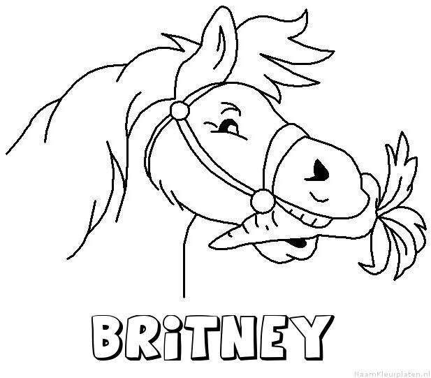 Britney paard van sinterklaas kleurplaat