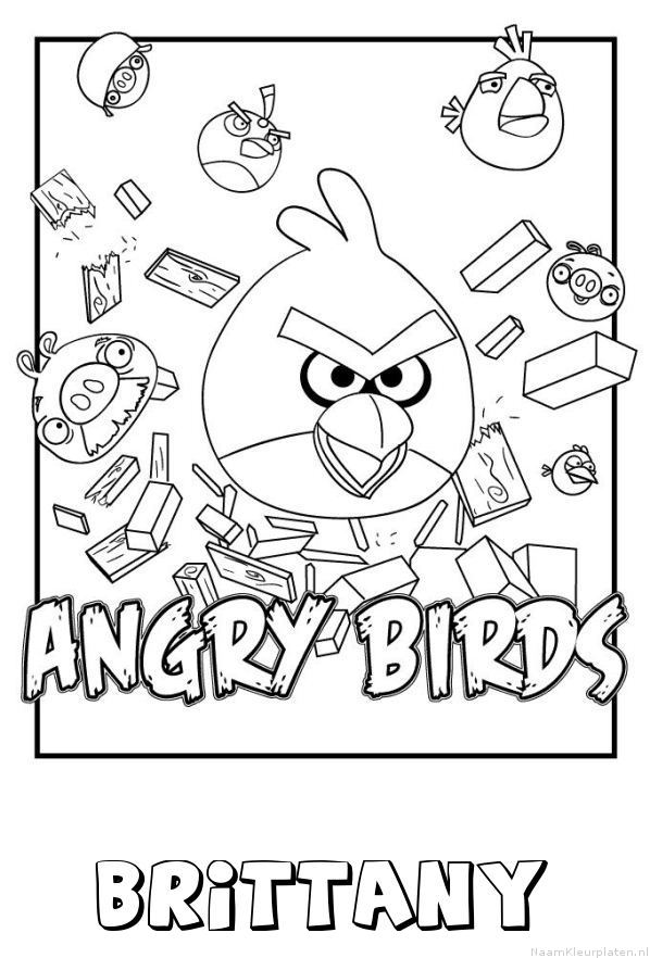 Brittany angry birds kleurplaat