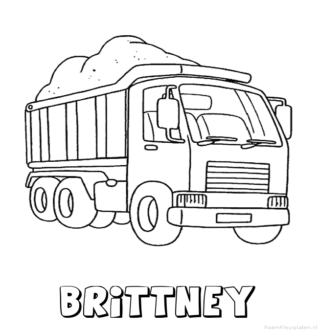 Brittney vrachtwagen kleurplaat