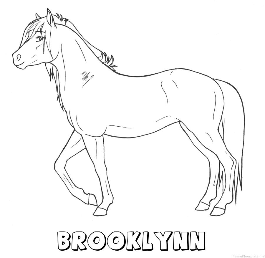 Brooklynn paard kleurplaat