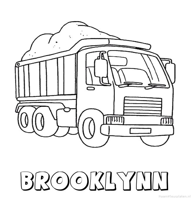 Brooklynn vrachtwagen kleurplaat