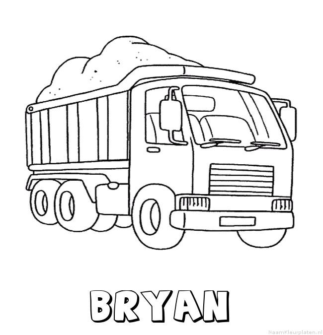 Bryan vrachtwagen kleurplaat