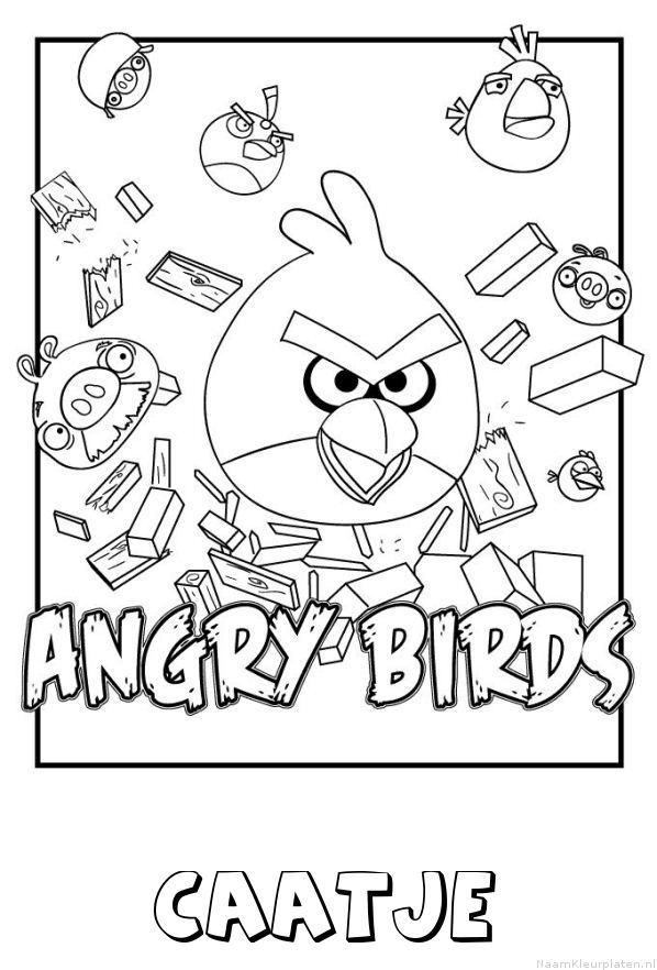 Caatje angry birds kleurplaat