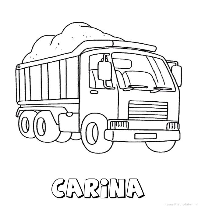 Carina vrachtwagen kleurplaat