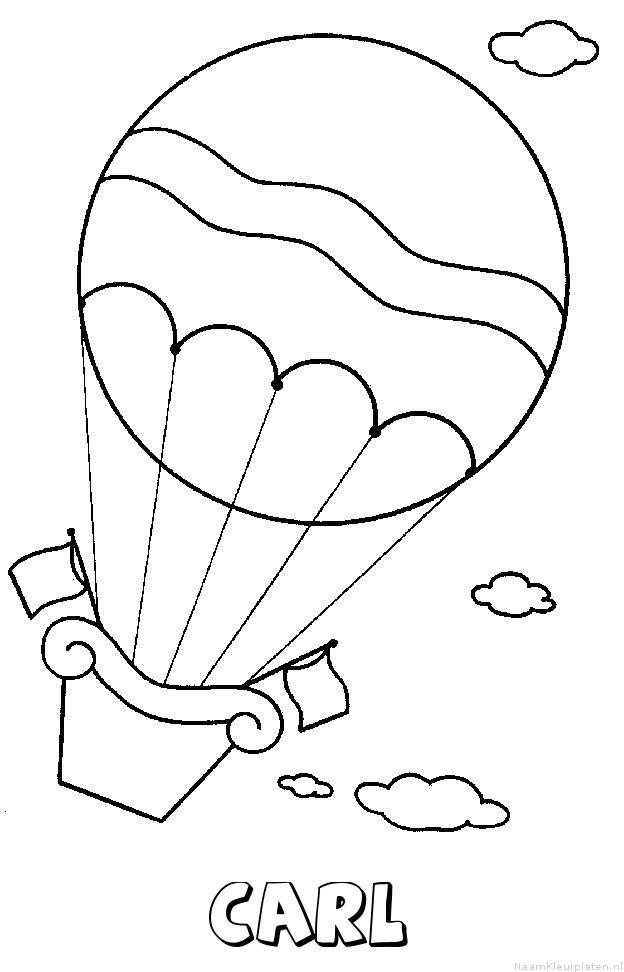 Carl luchtballon kleurplaat