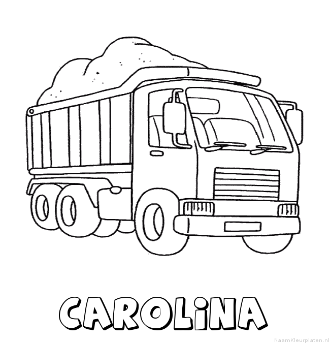 Carolina vrachtwagen kleurplaat