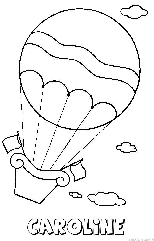 Caroline luchtballon kleurplaat