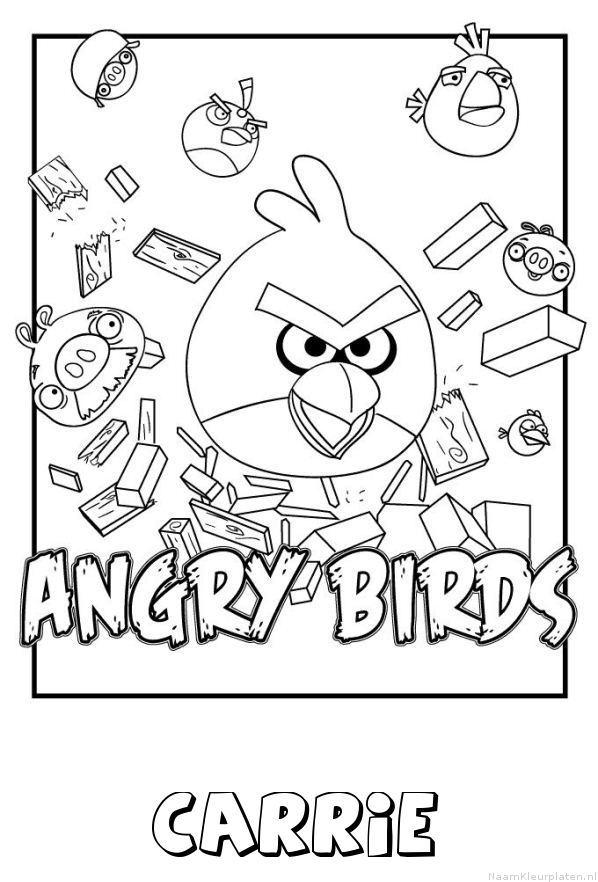 Carrie angry birds kleurplaat