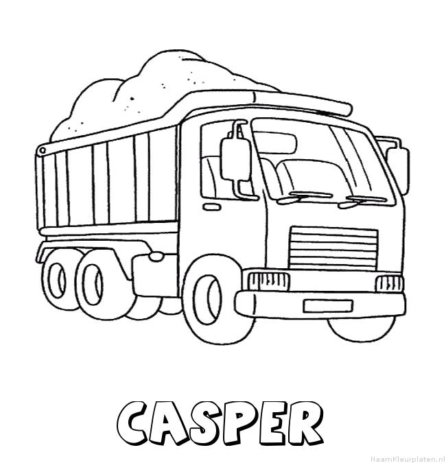 Casper vrachtwagen kleurplaat