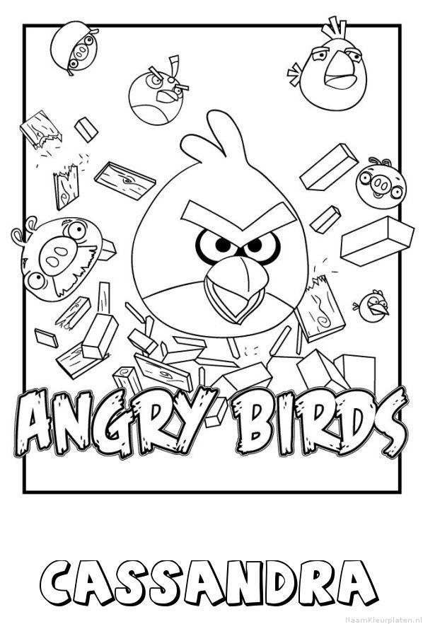 Cassandra angry birds kleurplaat