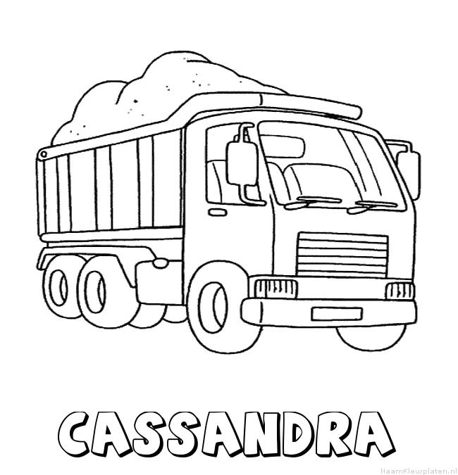Cassandra vrachtwagen kleurplaat