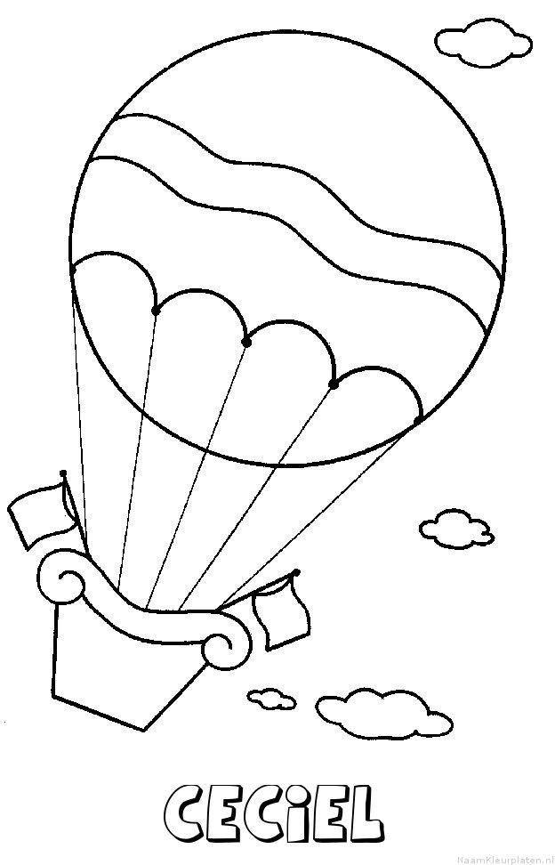 Ceciel luchtballon kleurplaat