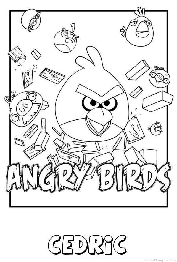 Cedric angry birds kleurplaat