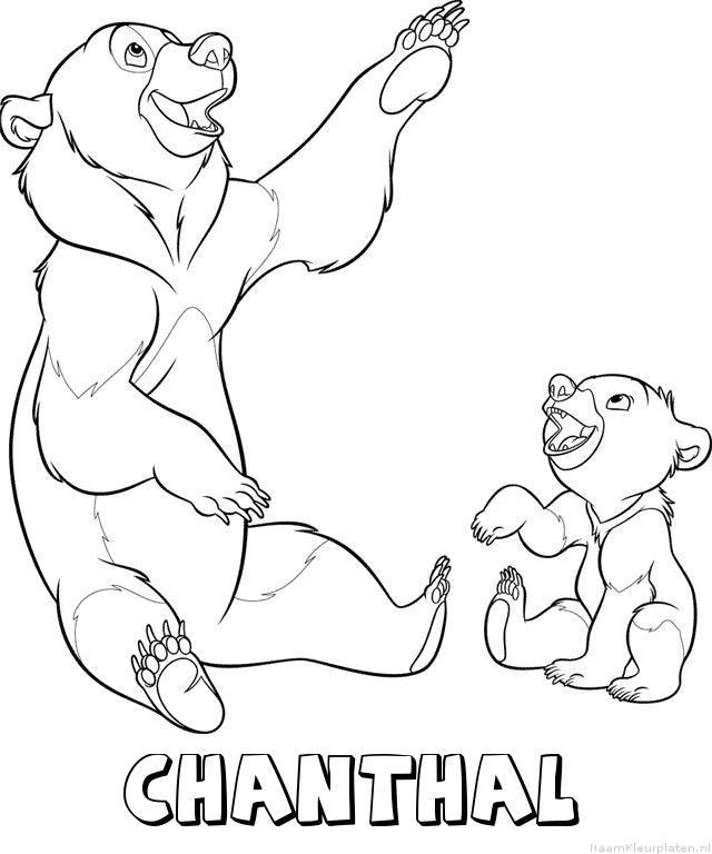 Chanthal brother bear kleurplaat