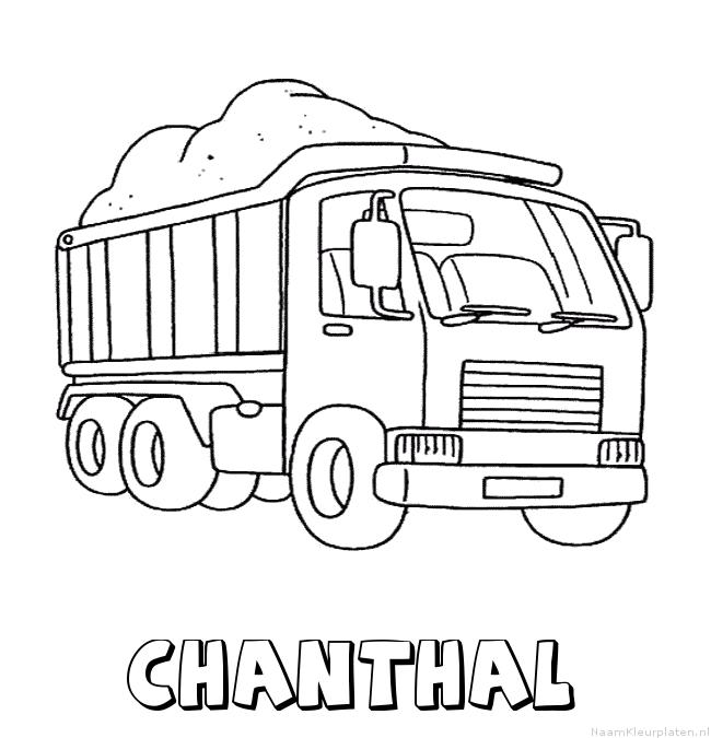 Chanthal vrachtwagen kleurplaat