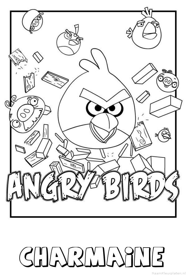 Charmaine angry birds kleurplaat