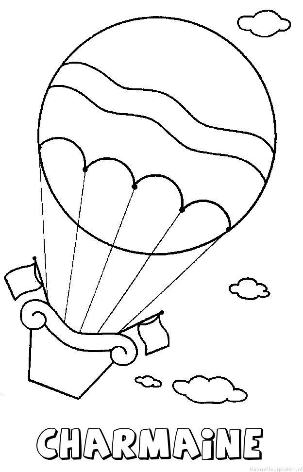 Charmaine luchtballon kleurplaat