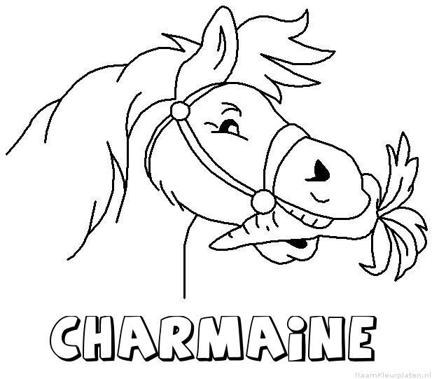 Charmaine paard van sinterklaas kleurplaat