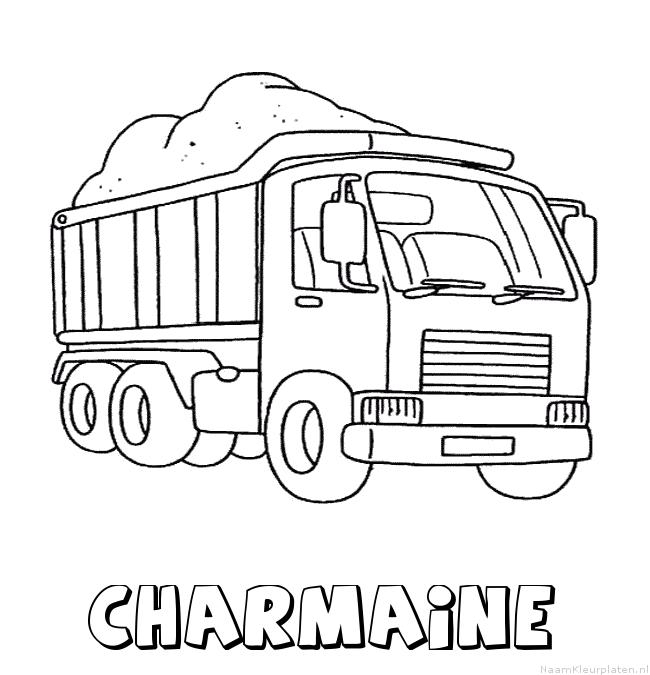 Charmaine vrachtwagen kleurplaat