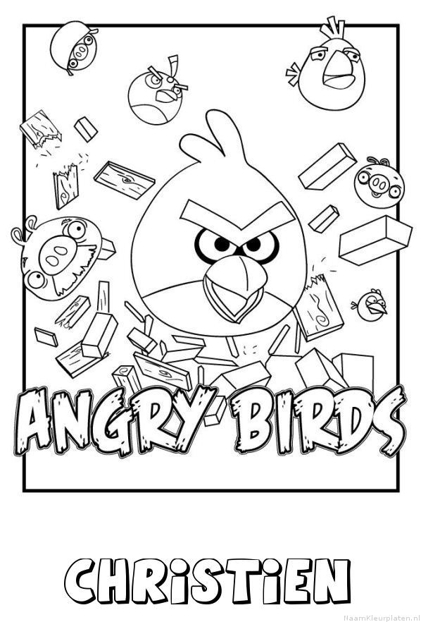 Christien angry birds kleurplaat