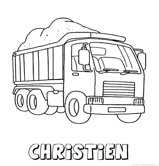 Christien vrachtwagen kleurplaat