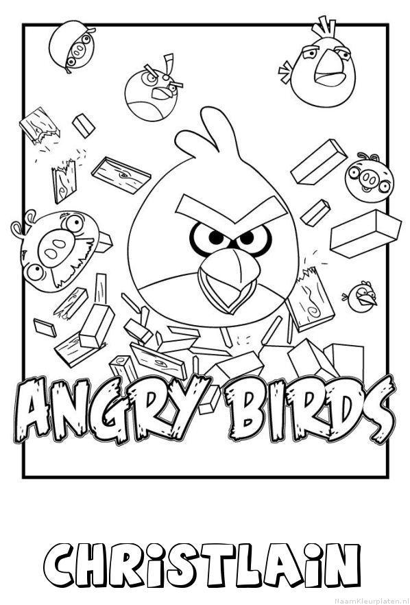 Christlain angry birds kleurplaat