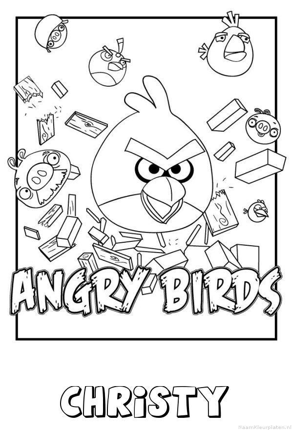 Christy angry birds kleurplaat