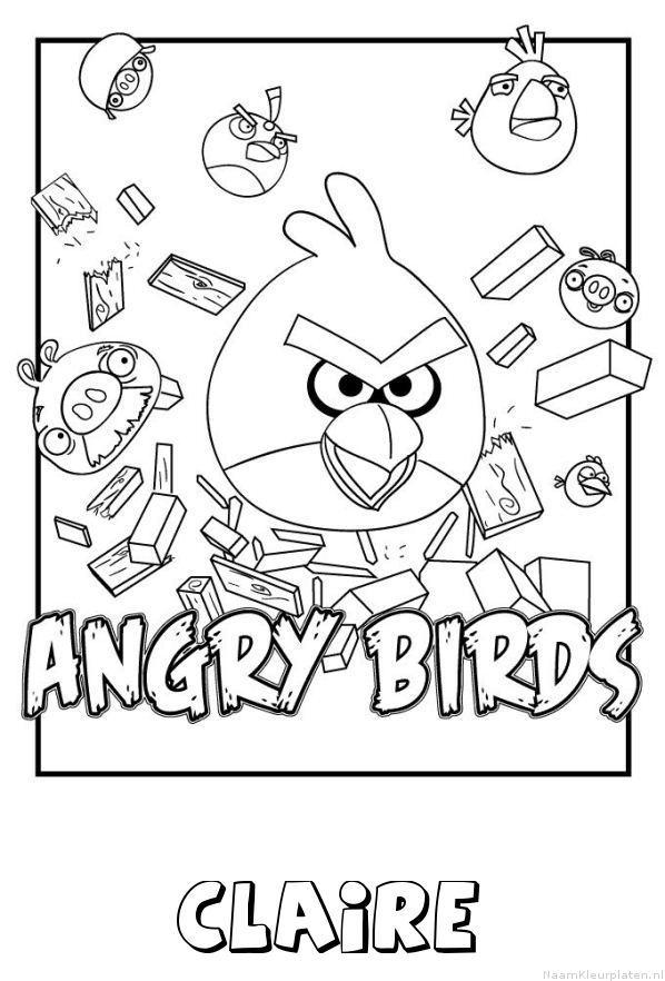 Claire angry birds kleurplaat