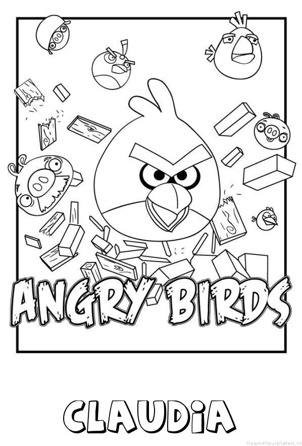 Claudia angry birds kleurplaat