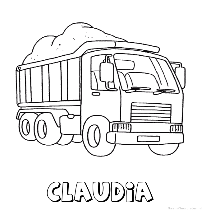 Claudia vrachtwagen kleurplaat