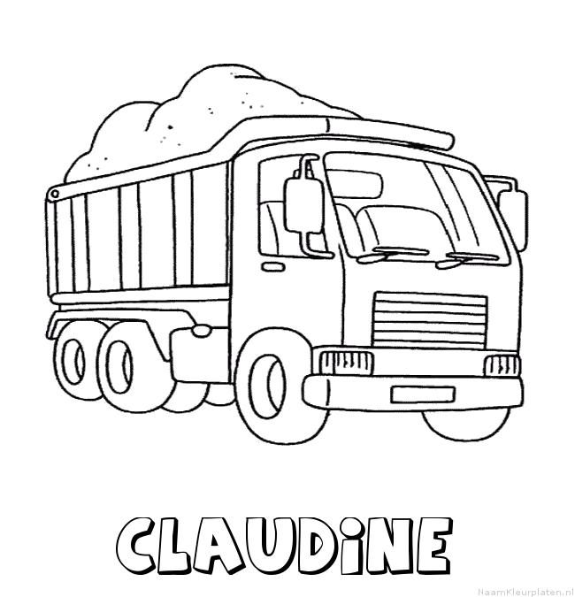 Claudine vrachtwagen kleurplaat