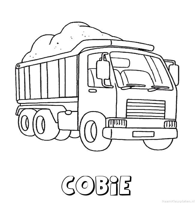 Cobie vrachtwagen kleurplaat