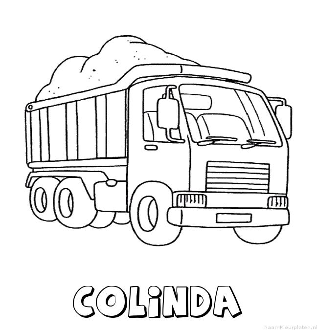 Colinda vrachtwagen kleurplaat