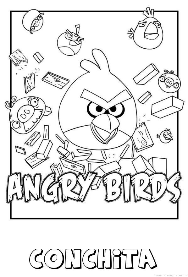 Conchita angry birds kleurplaat