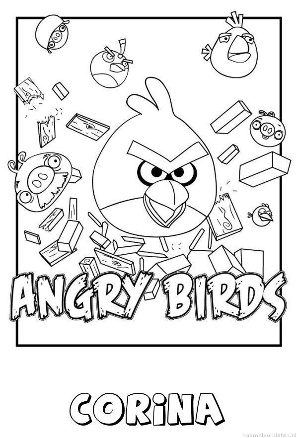 Corina angry birds kleurplaat