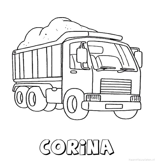 Corina vrachtwagen kleurplaat