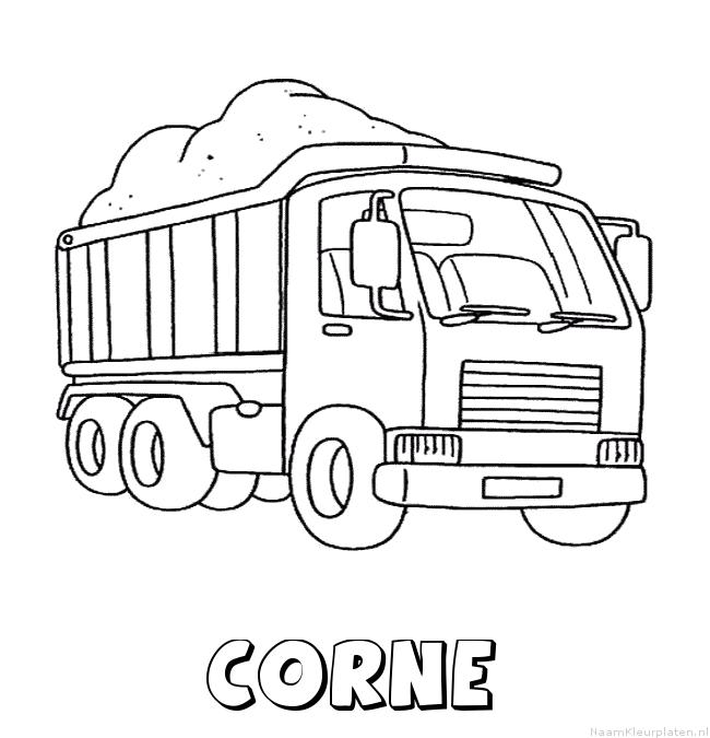 Corne vrachtwagen kleurplaat