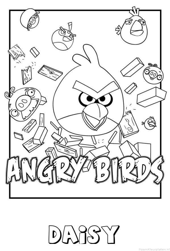 Daisy angry birds kleurplaat