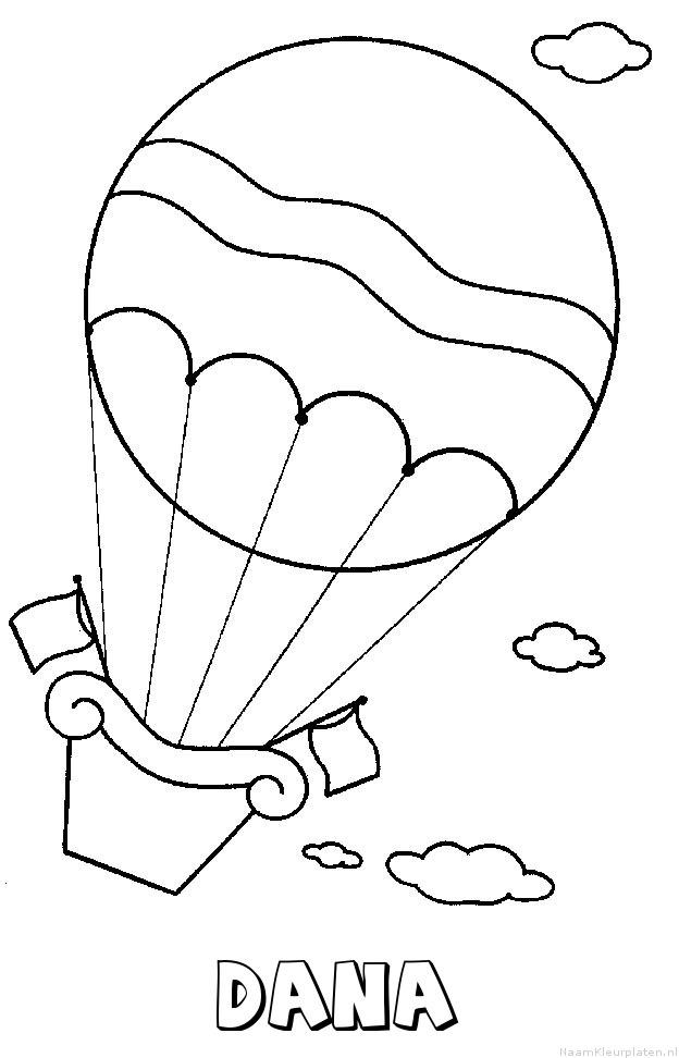 Dana luchtballon kleurplaat