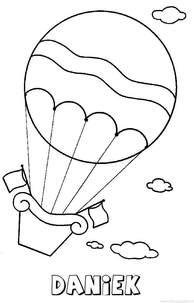 Daniek luchtballon kleurplaat