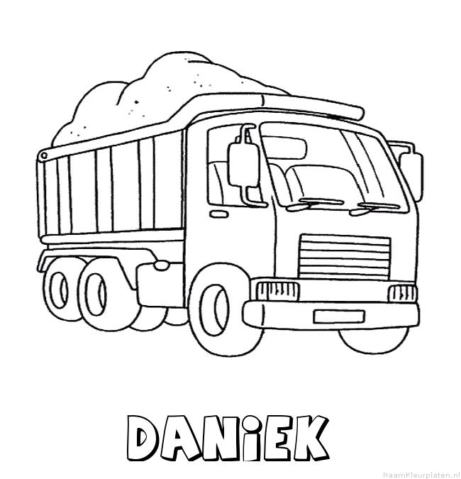 Daniek vrachtwagen kleurplaat