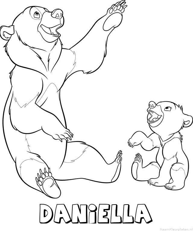 Daniella brother bear kleurplaat