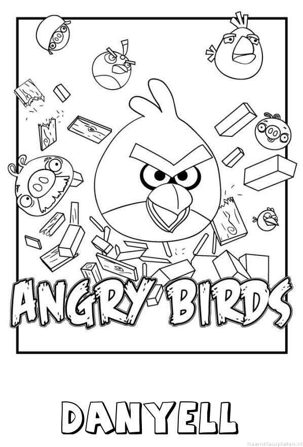 Danyell angry birds kleurplaat