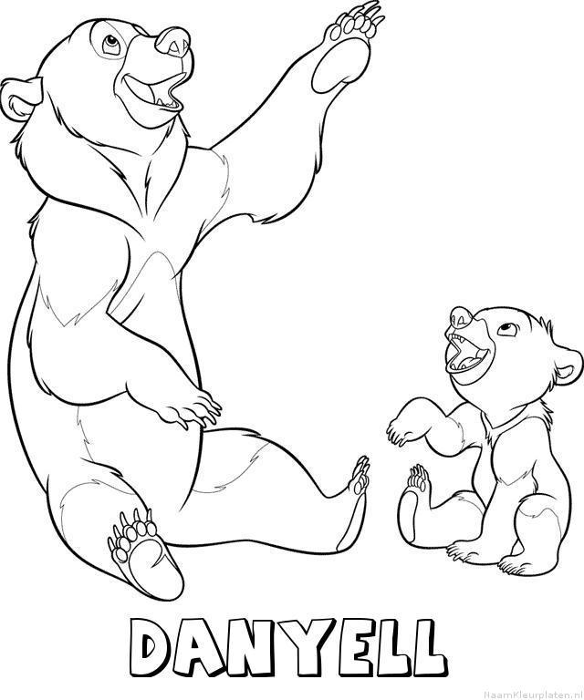 Danyell brother bear kleurplaat