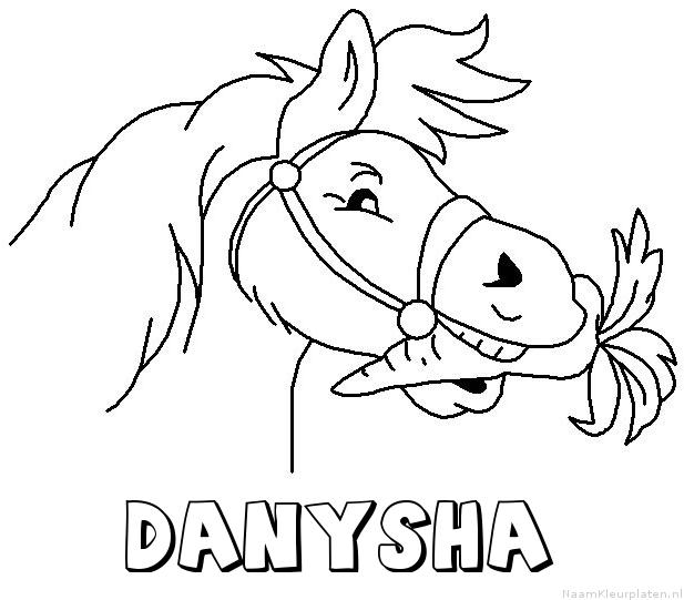 Danysha paard van sinterklaas kleurplaat