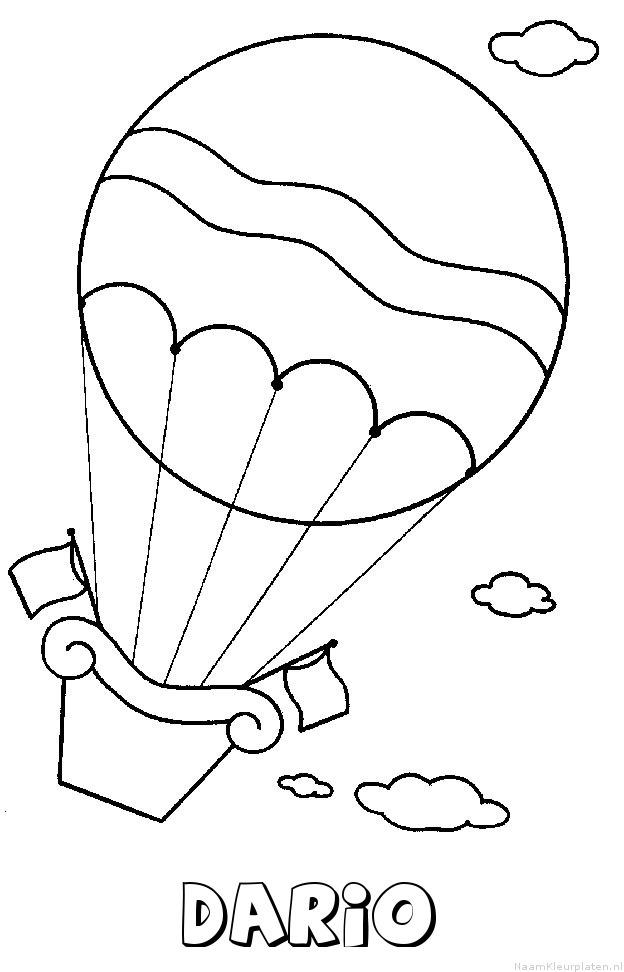 Dario luchtballon kleurplaat